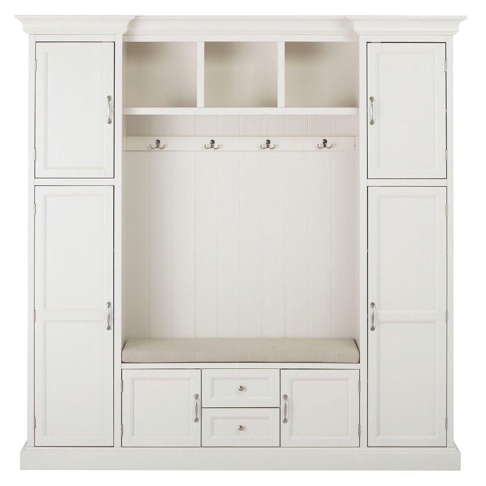 Royce Polar White Hall Tree Mudroom Hall And Contemporary