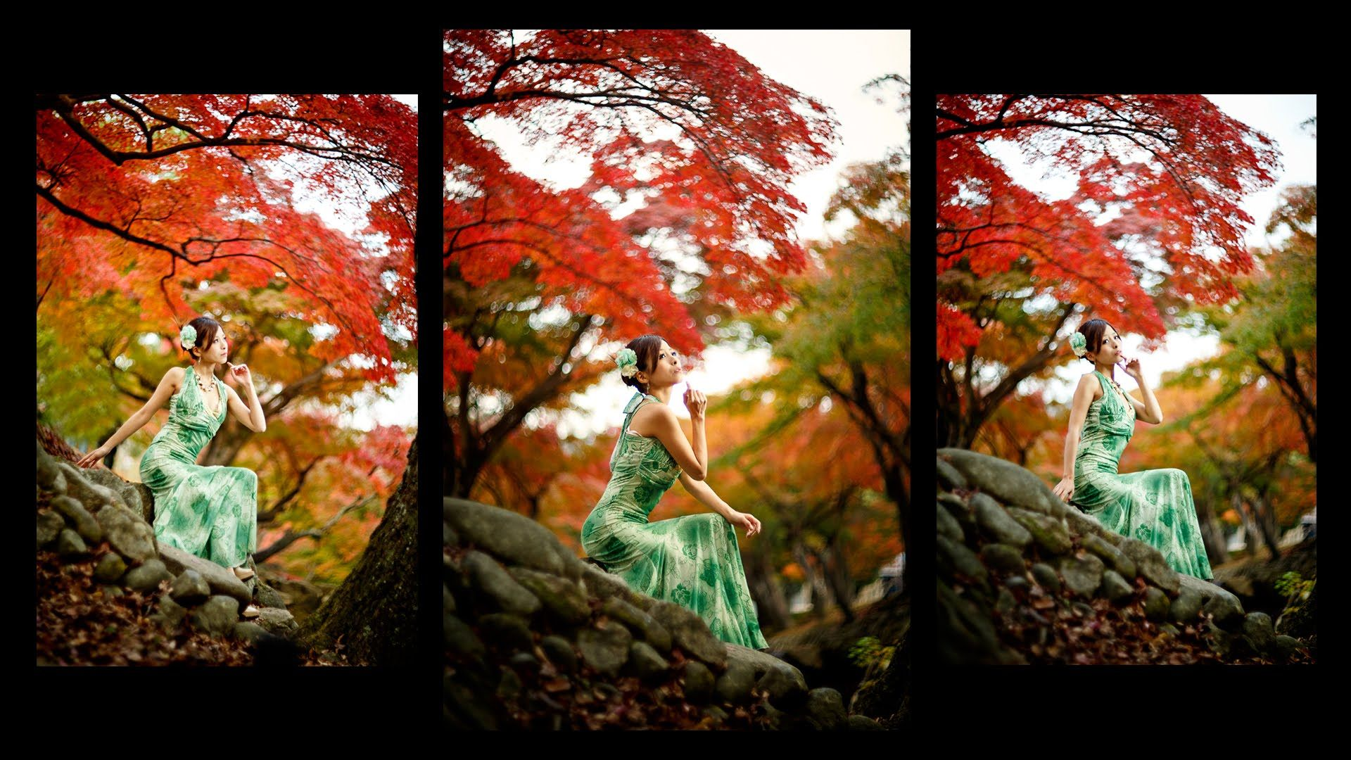 Strobist video: Behind the scenes video in the Japanese red leaves by Il...