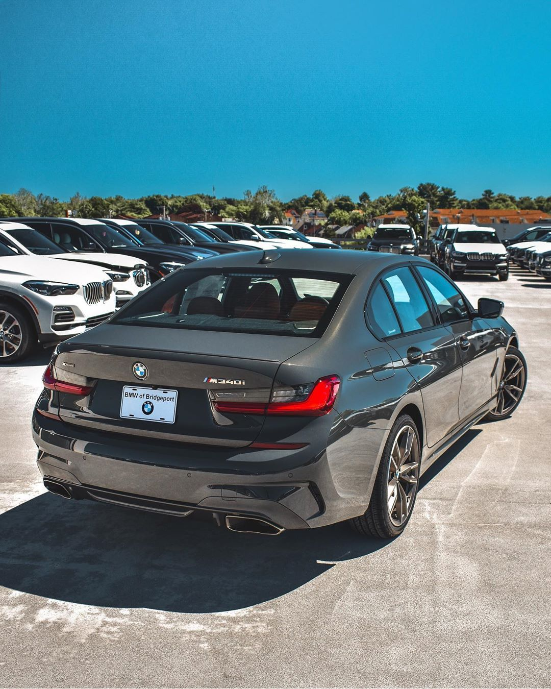 Our Tantalizing 2020 Bmw M340i In Dravit Grey This Time From The Backside Can The Rear Of This Model Compete With Its F Bmw Front End Design Trucks And Girls