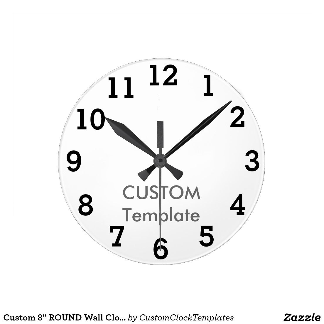 Custom  Round Wall Clock Stymie Bold  Wall Clocks Clocks And