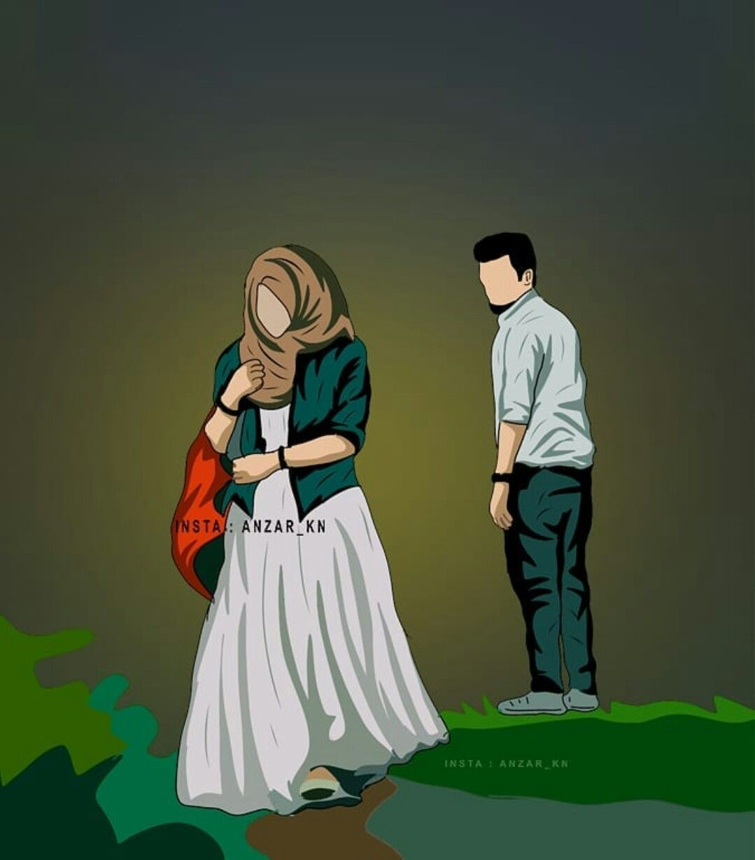 Pin By Dream Girl On Muslim Couple Art Love Cartoon Couple Cute Muslim Couples Muslim Couples