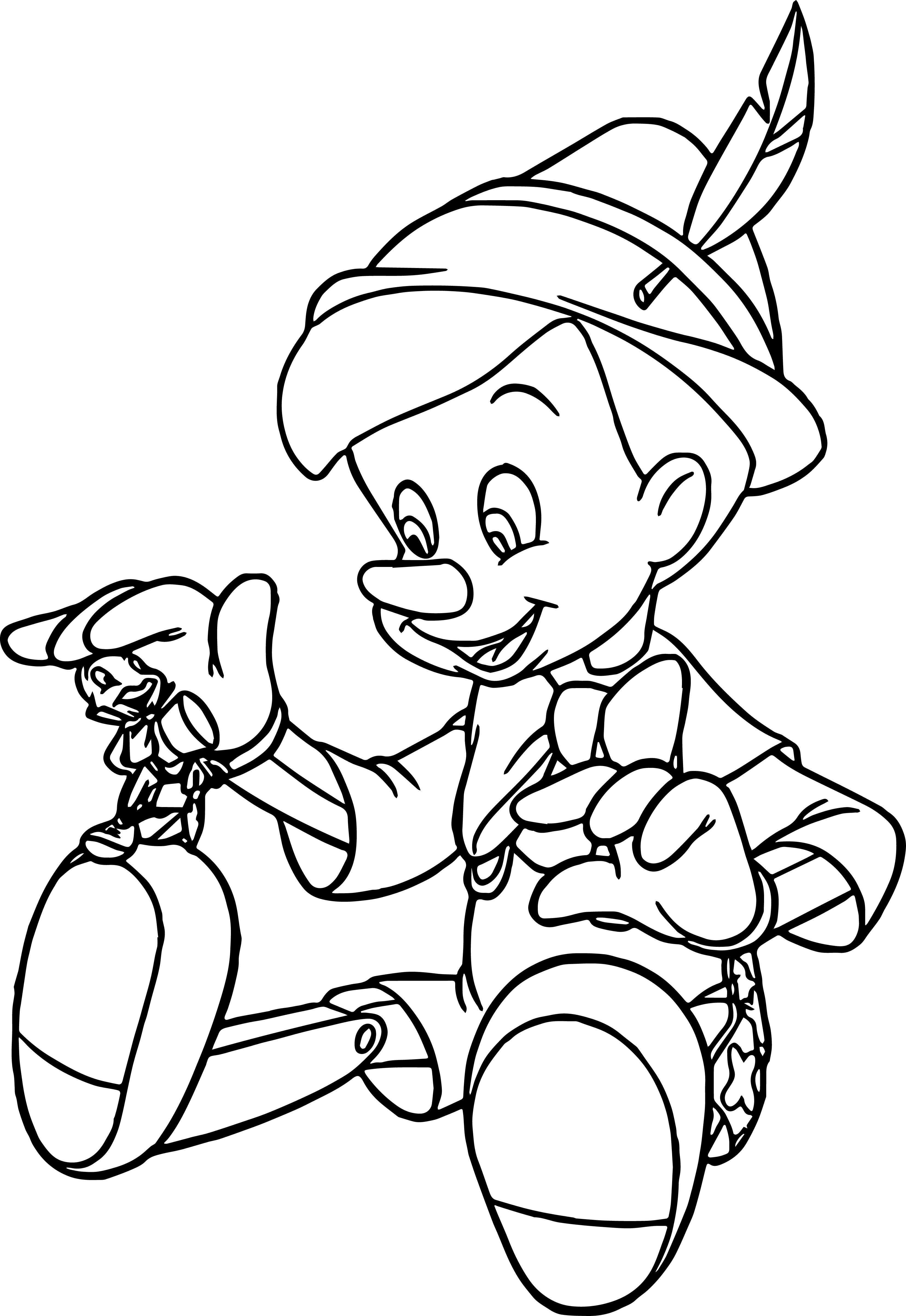 Pinocchio Coloring Pages   Geometric coloring pages ...