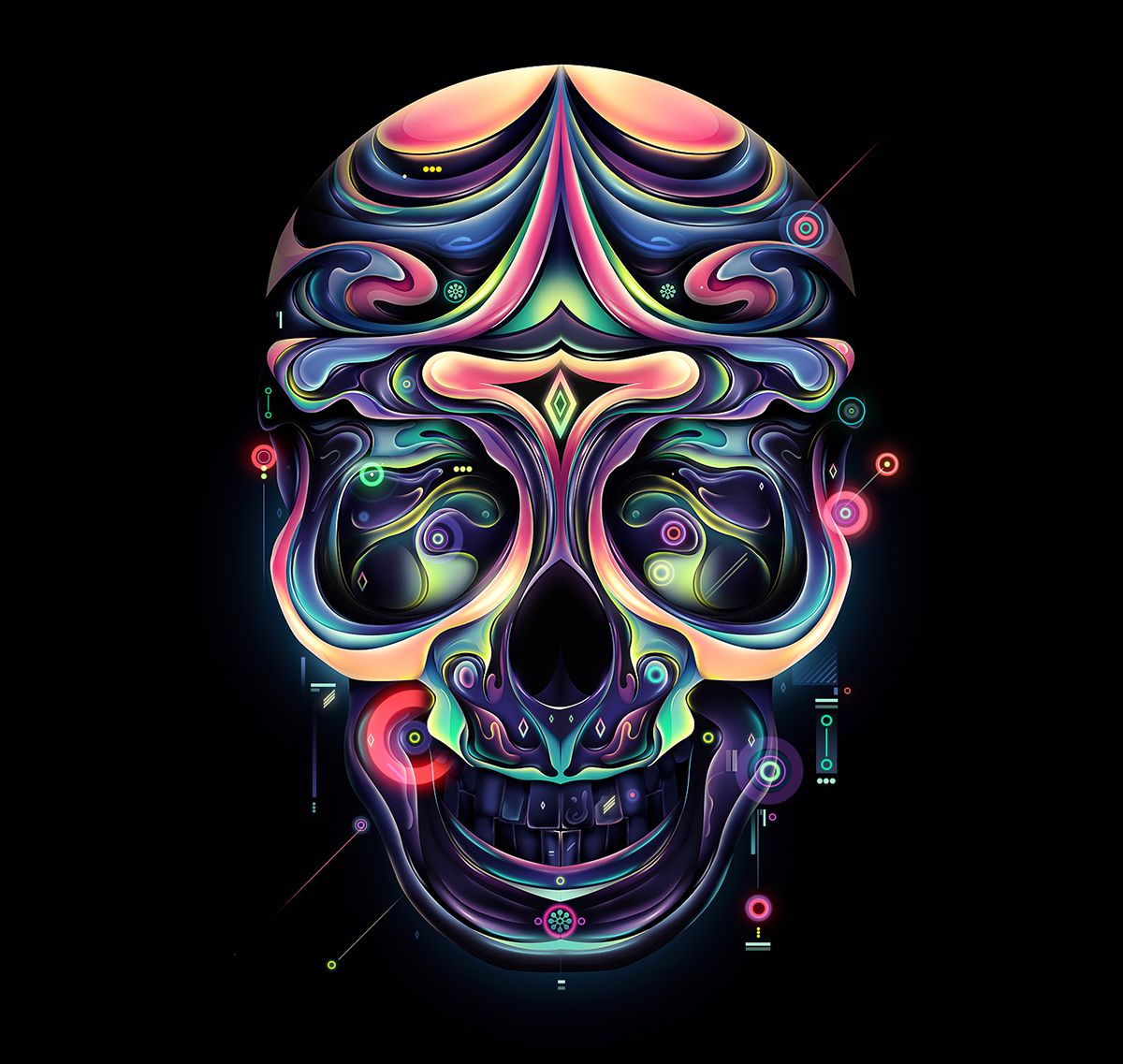 none of these images are mine =)  skull illustration