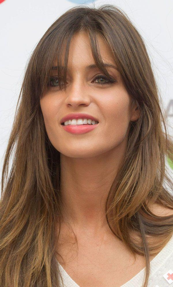 Sara Carbonero Peinados Cabello Pelo Largo Con Flequillo Y