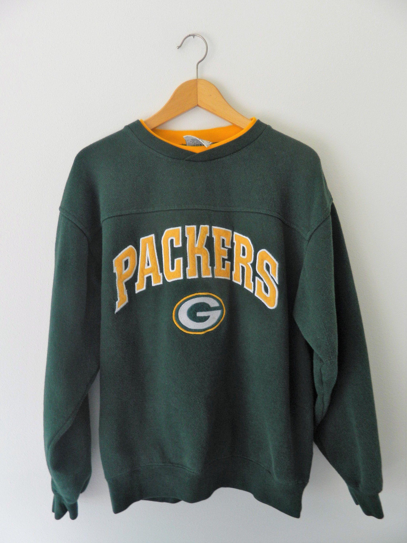 Green Bay Packers Vintage Sweatshirt Thermal Knit Classic Etsy Vintage Sweatshirt Sweatshirts Heavy Sweatshirts