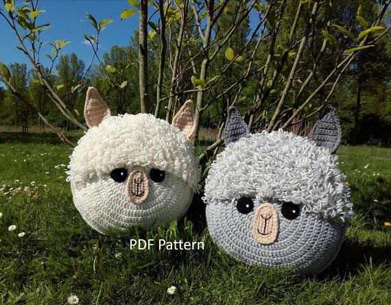 New Pattern Alpaca Llama Pillow Cushion Crochet Pattern Crochet