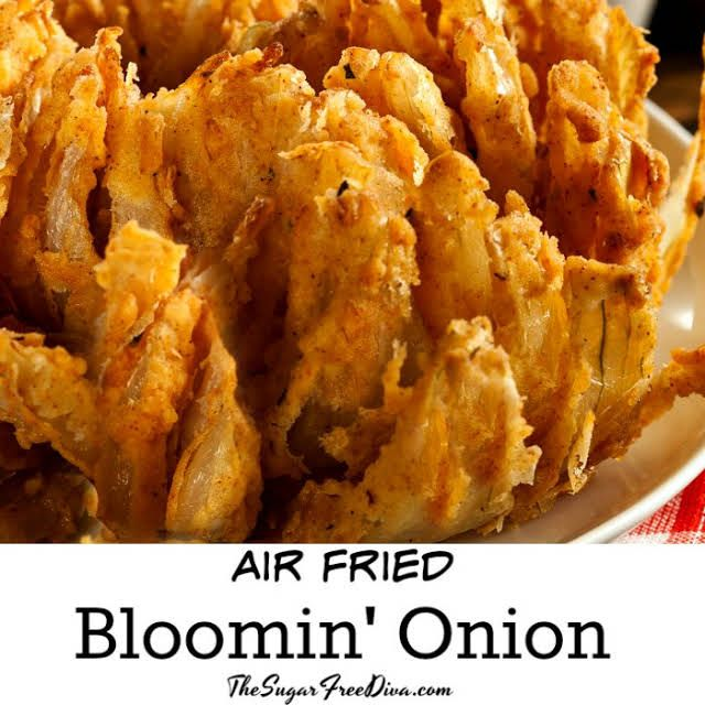 Air Fried Blooming Onion With Onion Flour Old Bay