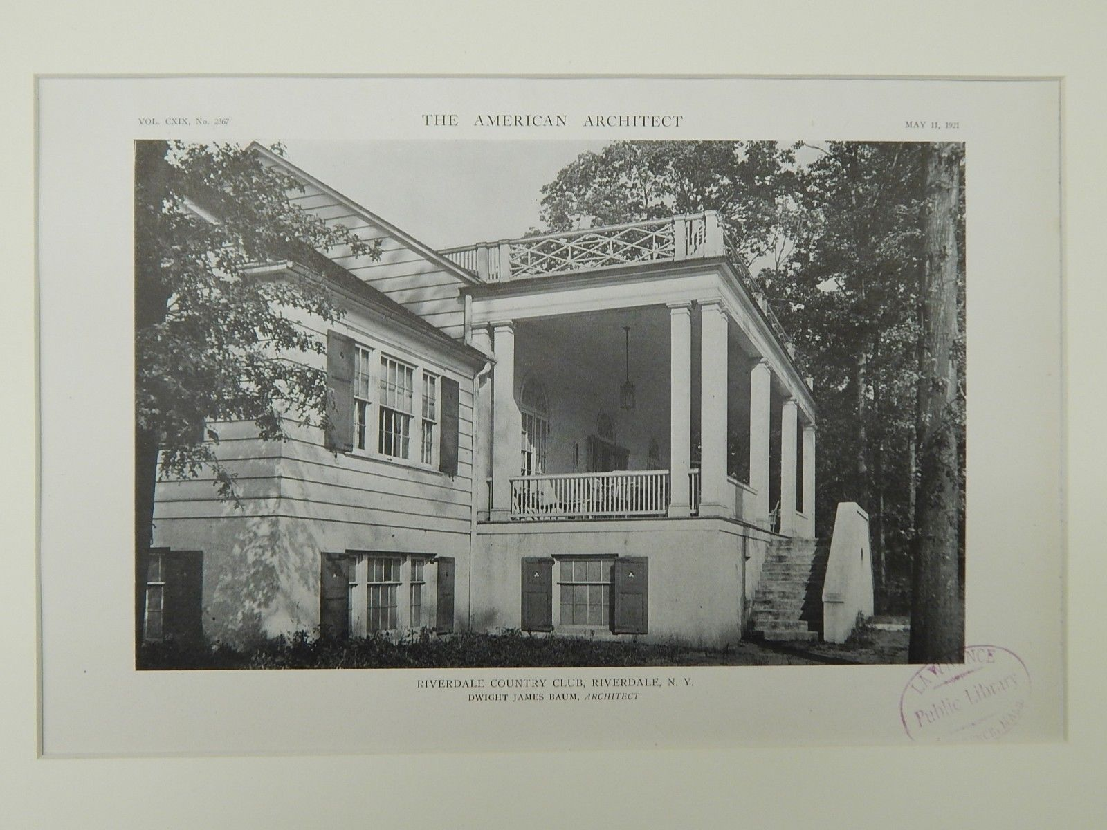 Riverdale country club riverdale ny 1921 lithograph