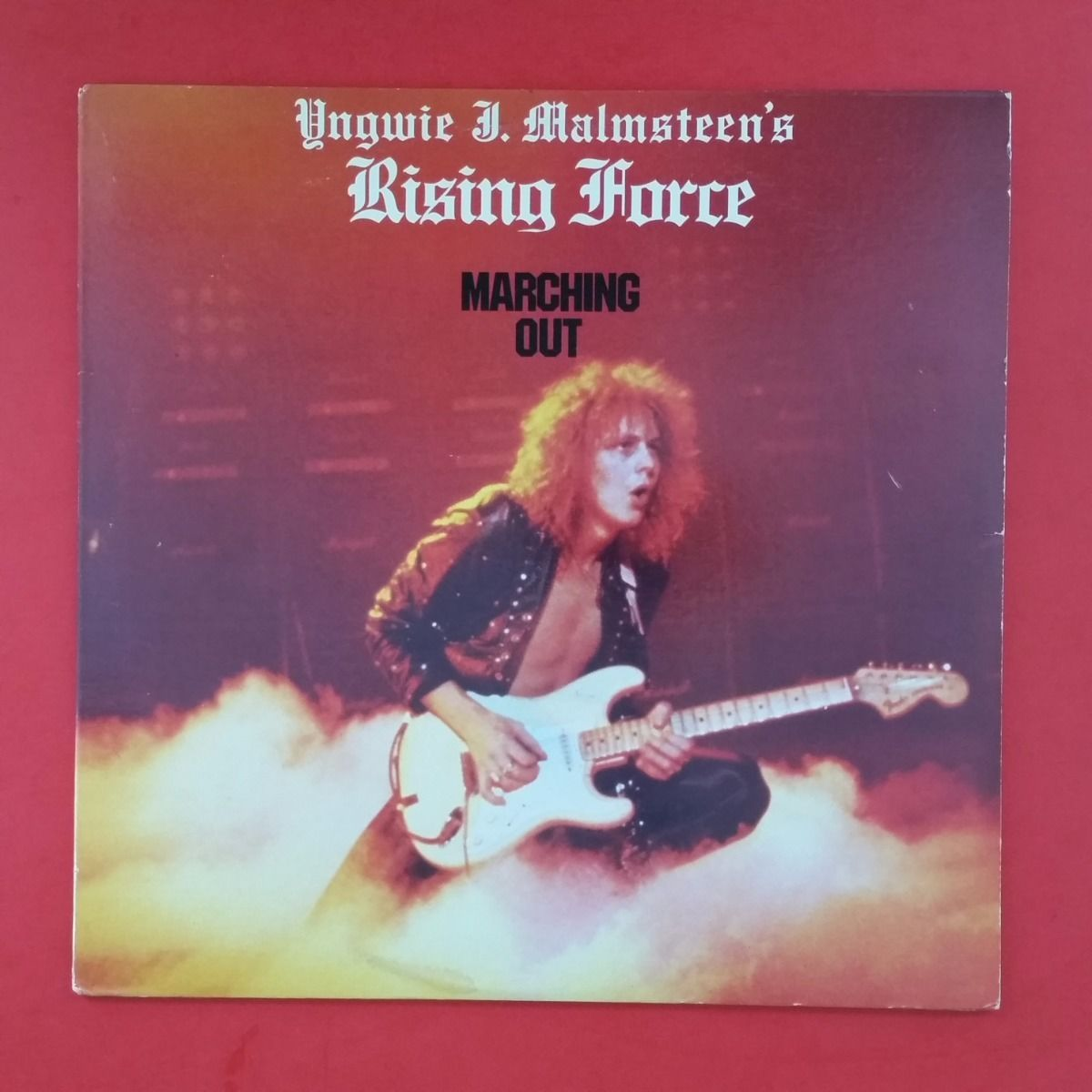 Yngwie J Malmsteen Rising Force Marching Out Lp Vinyl Vg
