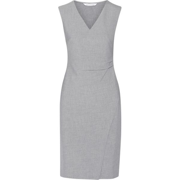 Diane von Furstenberg Megan stretch-ponte dress (€210) ❤ liked on ...