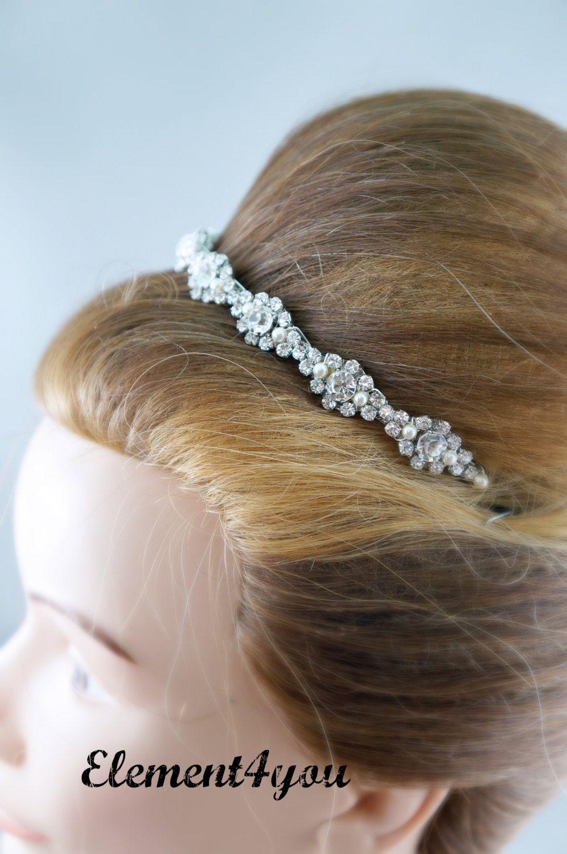 Bridal headband rhinestone tiara wedding hair accessories swarovski