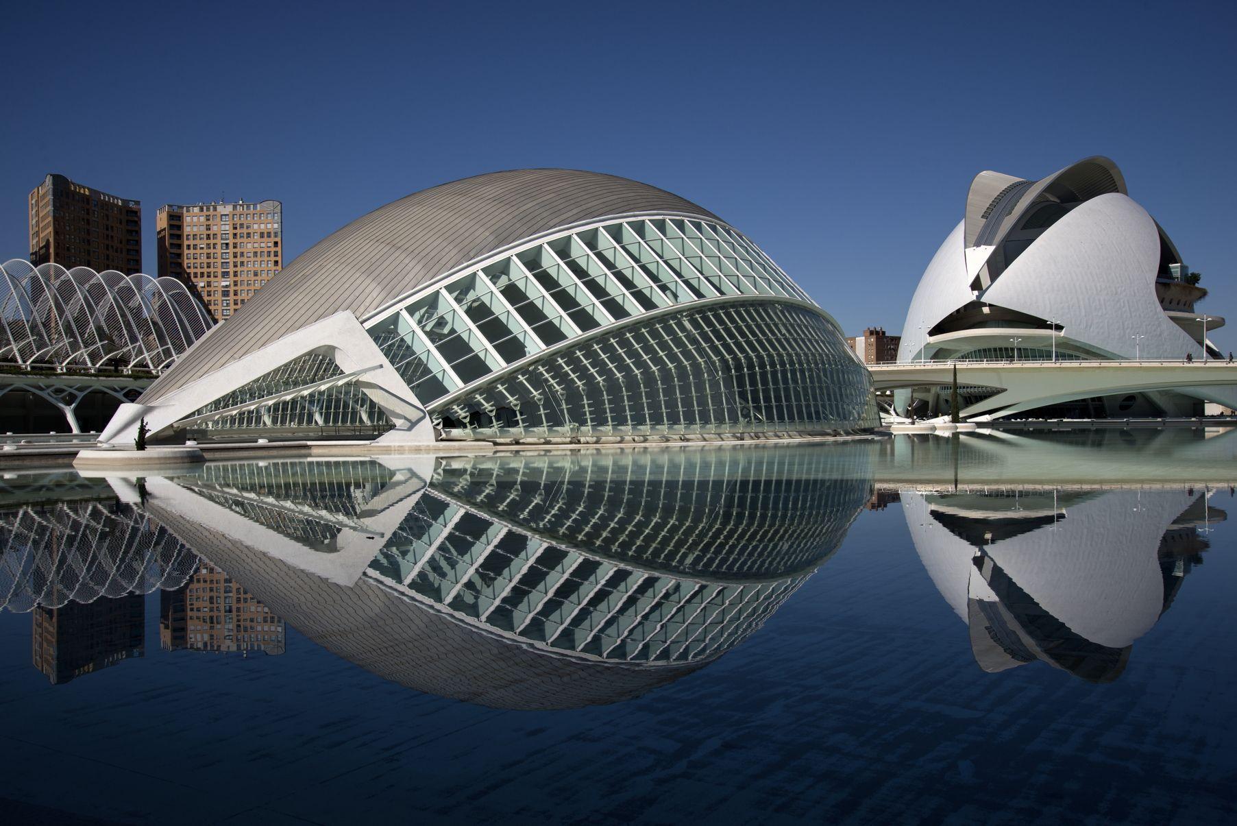 Ciudad De Las Artes Y Las Ciencias De Valencia Santiago Calatrava 1998 Architecture Drawing Opera House Architecture