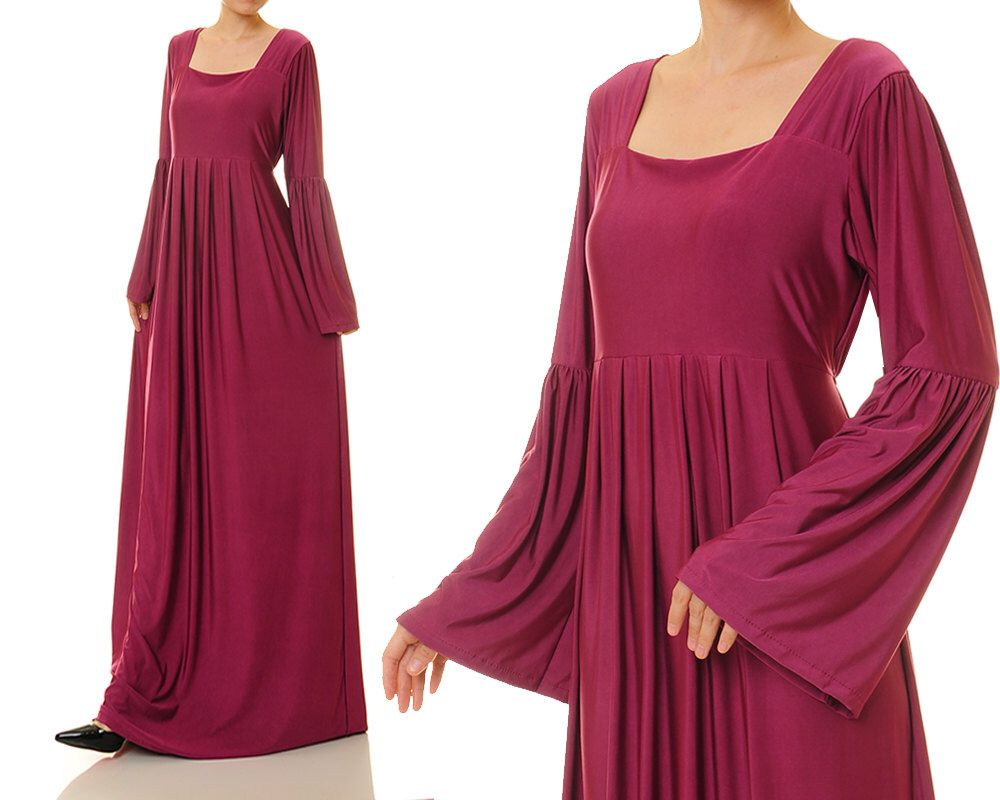 Magenta abaya maxi dress bell sleeve dress long sleeve maternity magenta abaya maxi dress bell sleeve dress long sleeve maternity gown size s ombrellifo Image collections