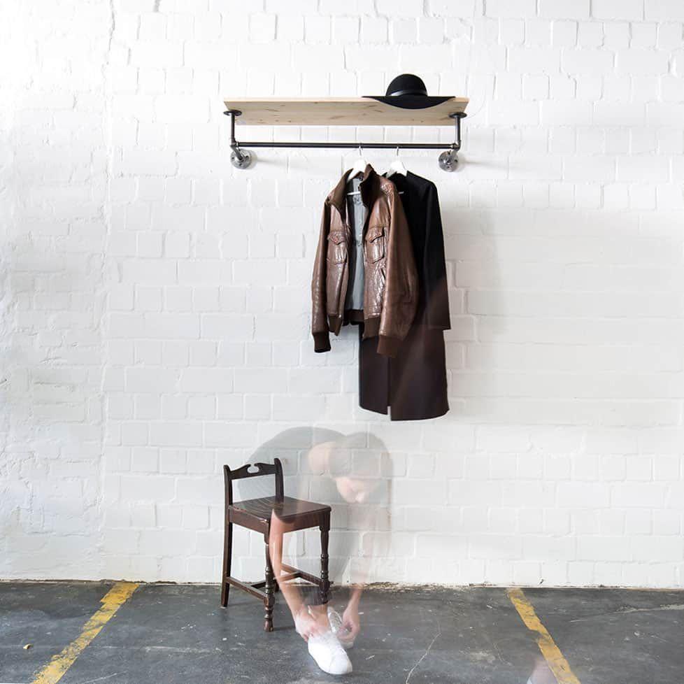 Garderobe Industrial Style Mit Regal Online Kaufen