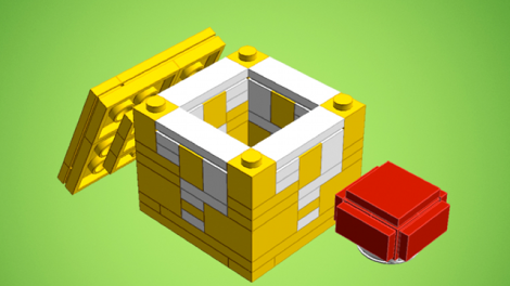How To Build A Lego Super Mario Question Block To Power Up Your Weekend In 2020 Lego Super Mario Lego Challenge Lego Presents
