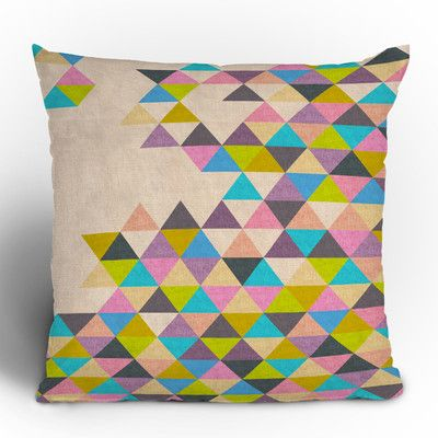 muted triangle pillow
