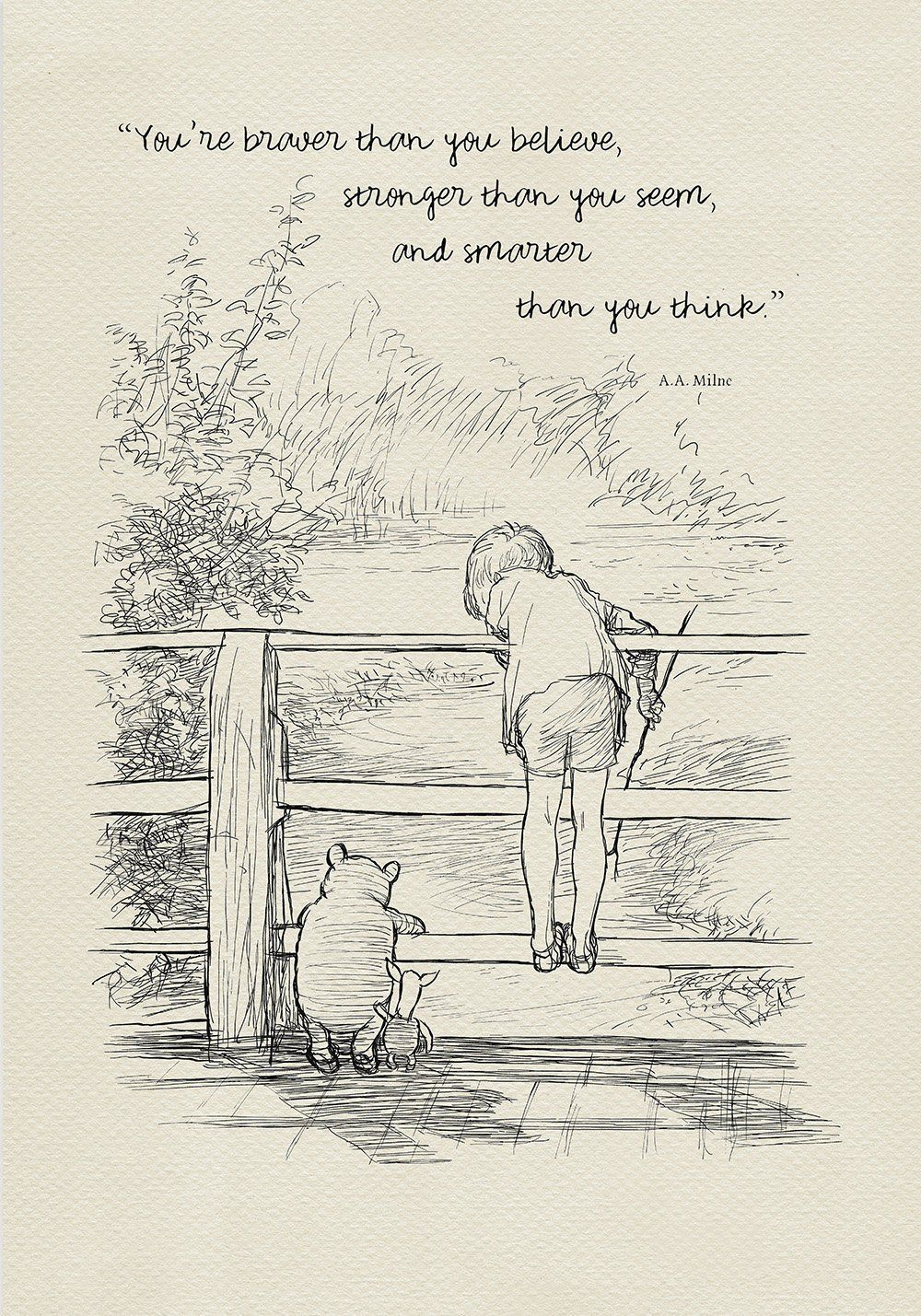 you are braver than you believe winnie the pooh quotes classic
