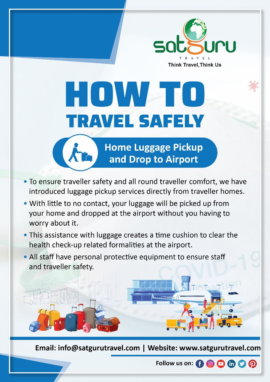 Home Luggage Pickup And Drop To Airport In 2020 Safe Travel Travel Getting To Know