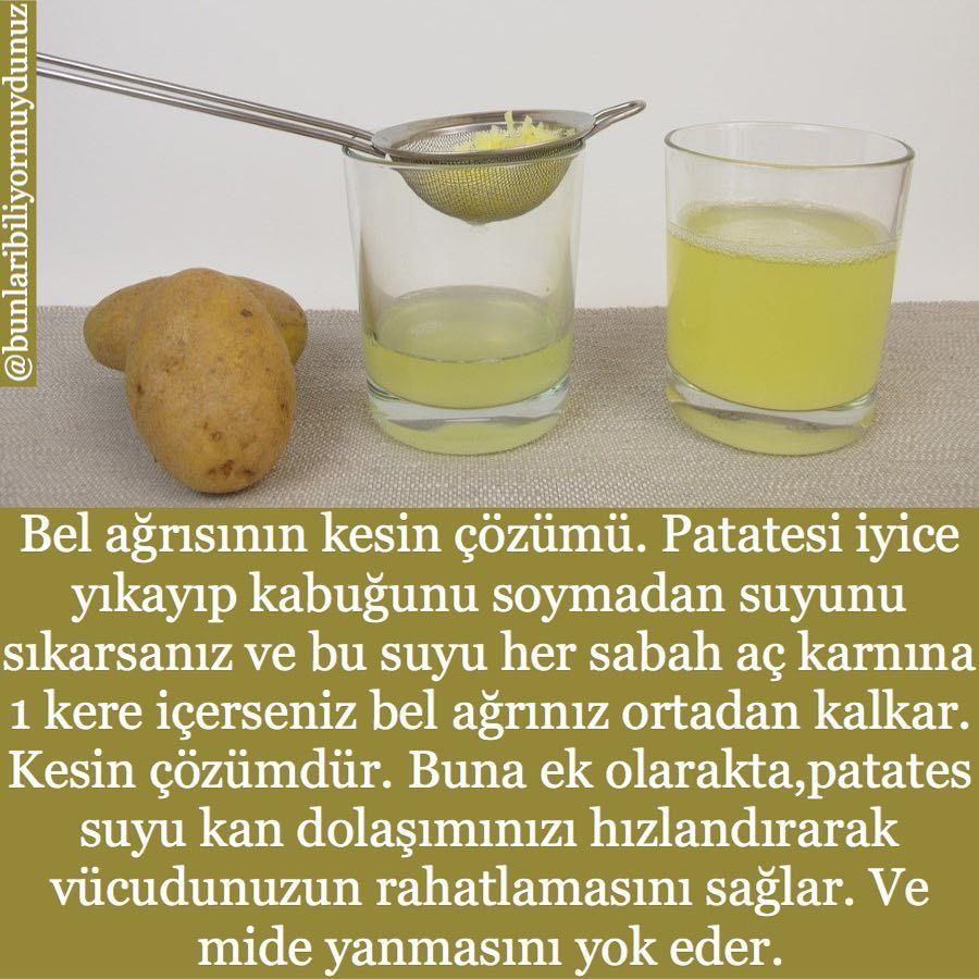 Cilt sorunlarına patates suyu ile son verin