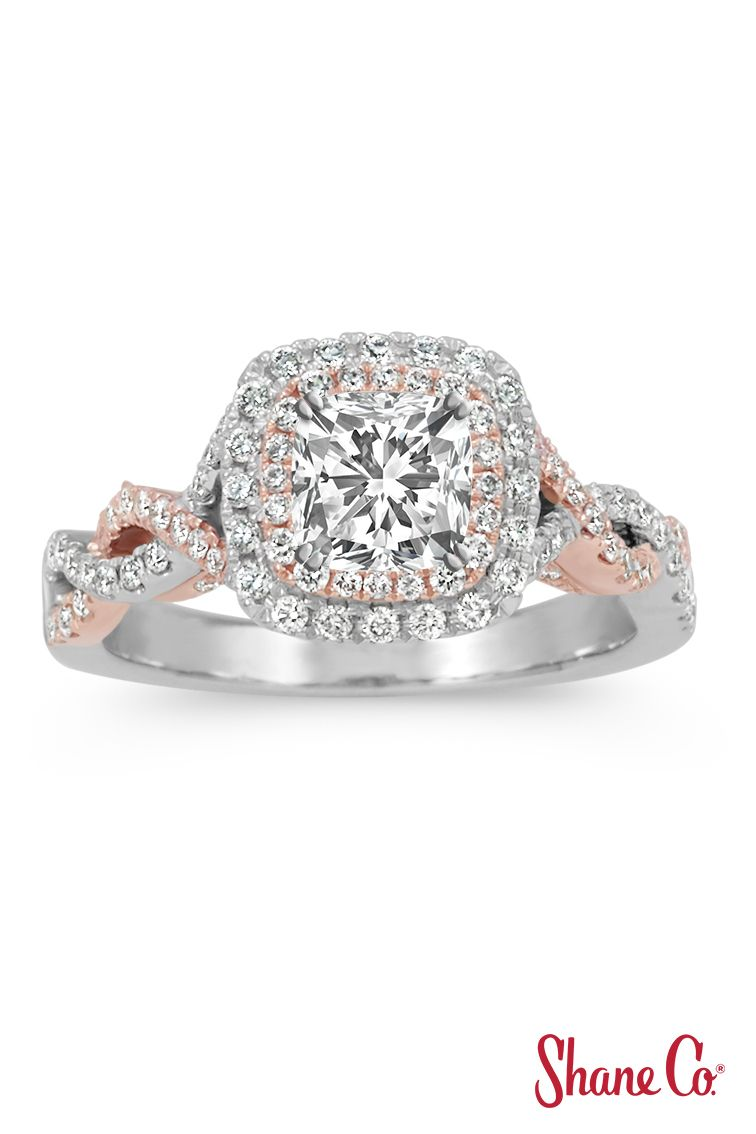 Diamond Halo Infinity Engagement Ring In Gold Most Popular