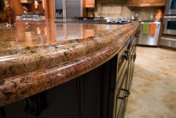 Edge Details Laminated Ogee Over Offset Full Bullnose Granite Detail