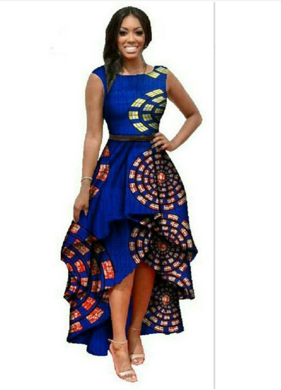 c326748c8c4 High-Low African Print Dress