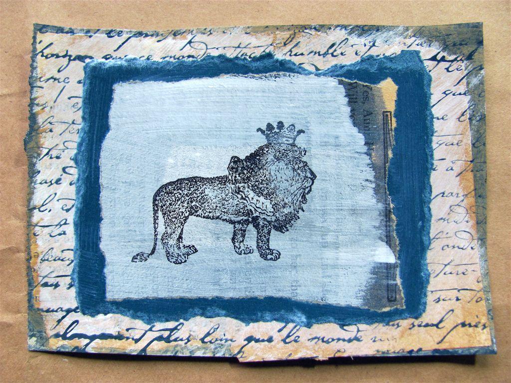 Lion art card