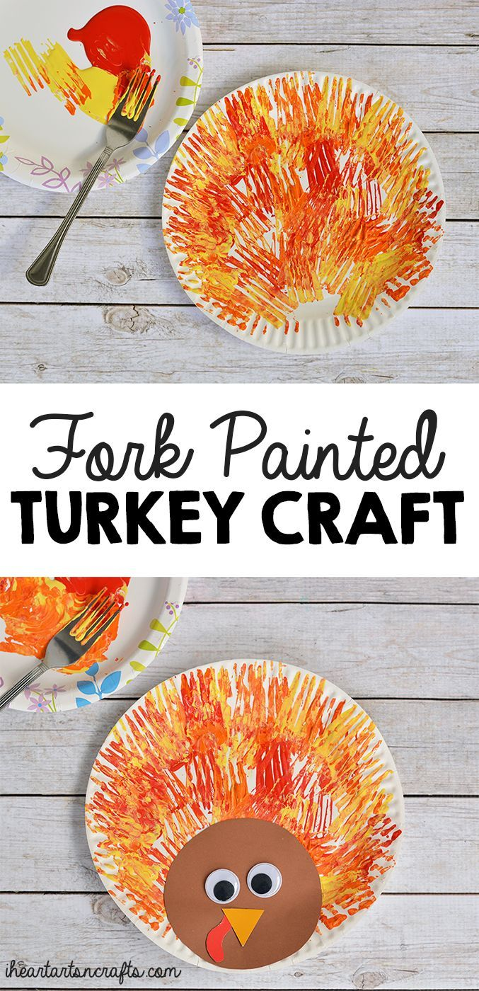 fork painted turkey craft for kids turkey craft craft and