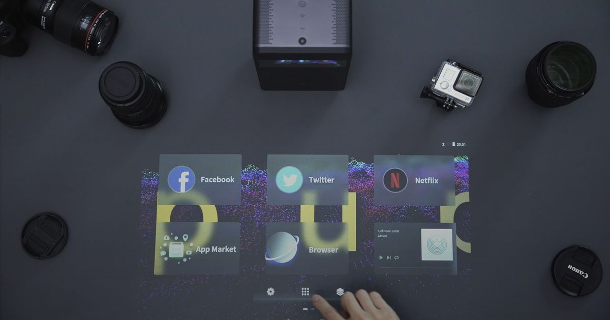 Turn any surface into a touch screen with this device