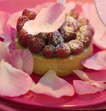 Hazelnut and Raspberry Tart
