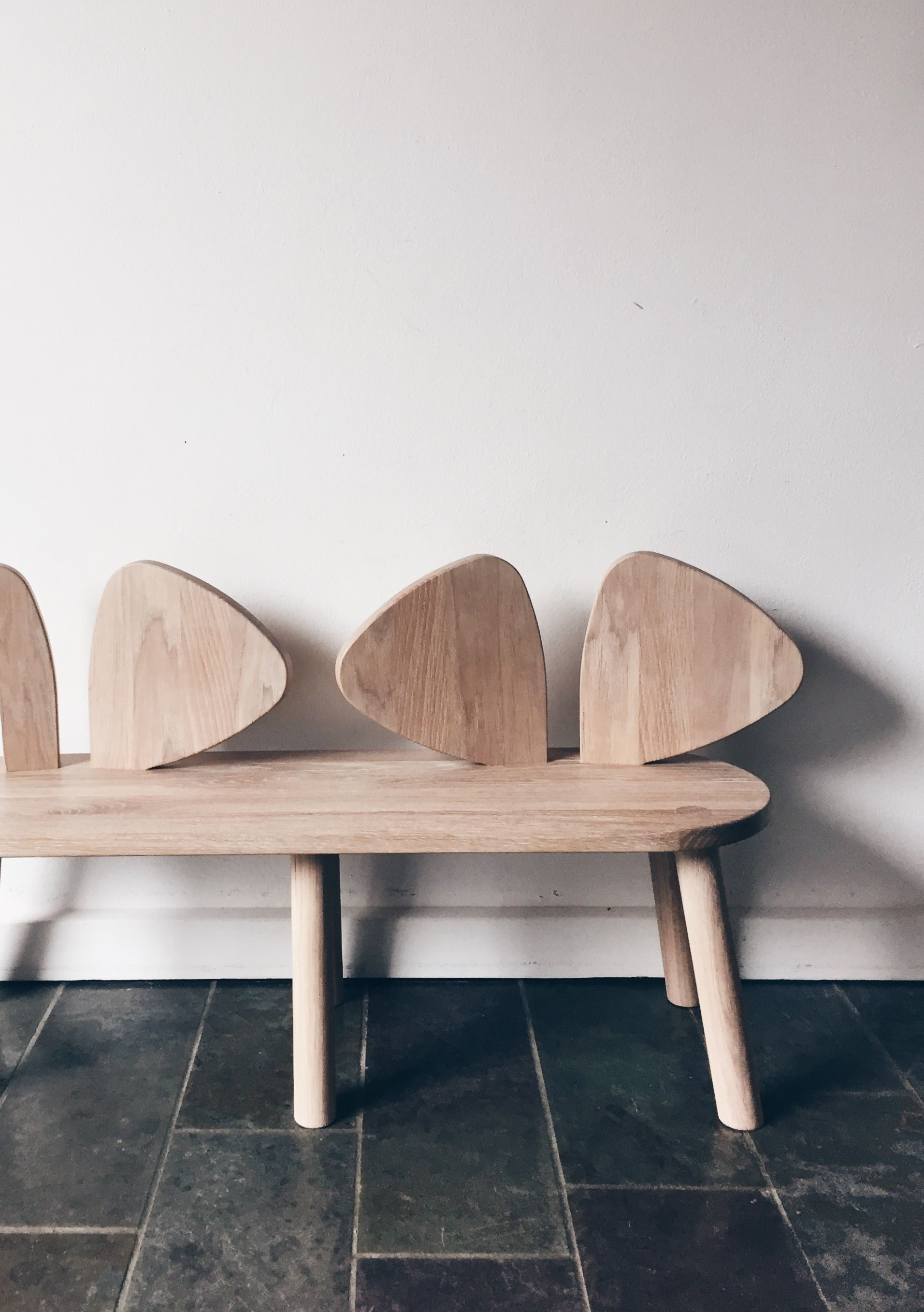 Beautiful mouse bench from Danish Nofred Iconic design for kids