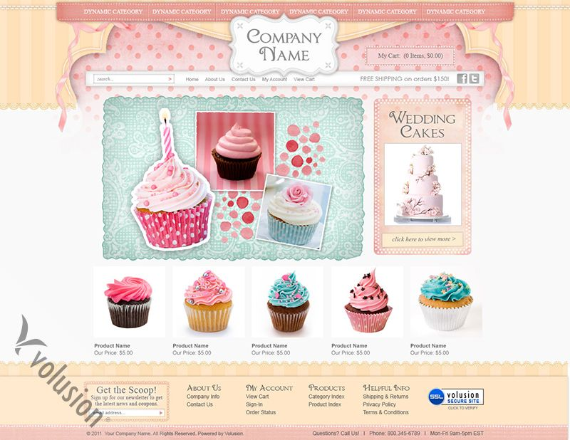 Cupcake Website Template. 40 bakery and cakery wordpress themes wp ...