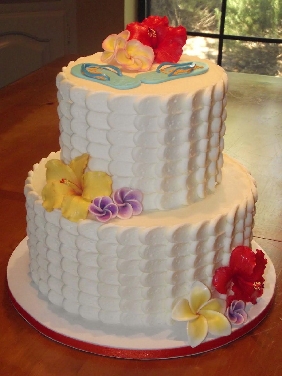 suzys sweet shoppe tropical bridal shower cake