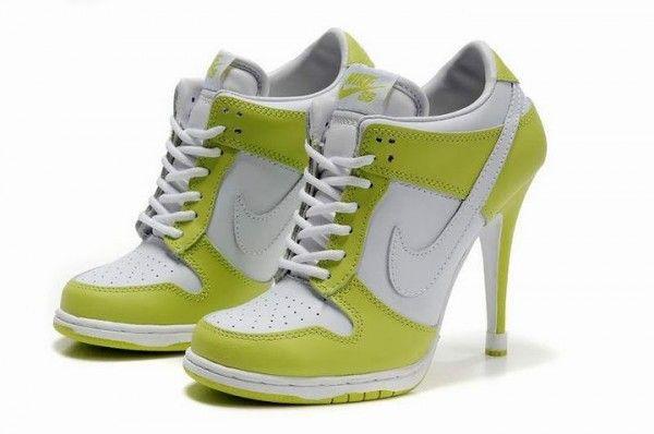 nike dunk high heels