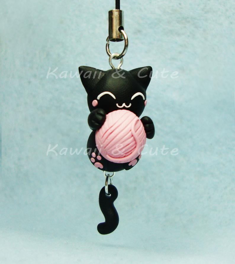 Photo of Schlüsselanhänger/Mobile Anhänger/Kragen – Katze mit Ball