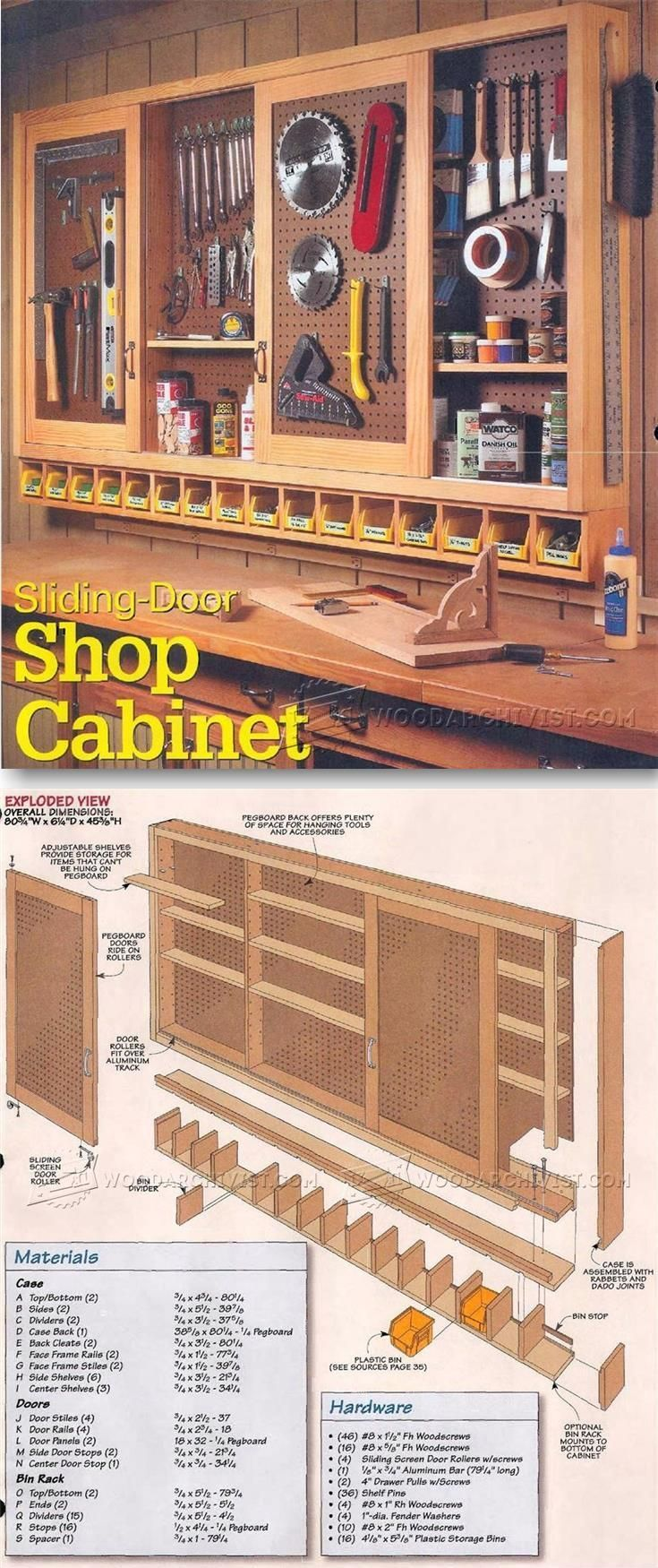 Shop pegboard cabinet plans workshop solutions plans tips and tr