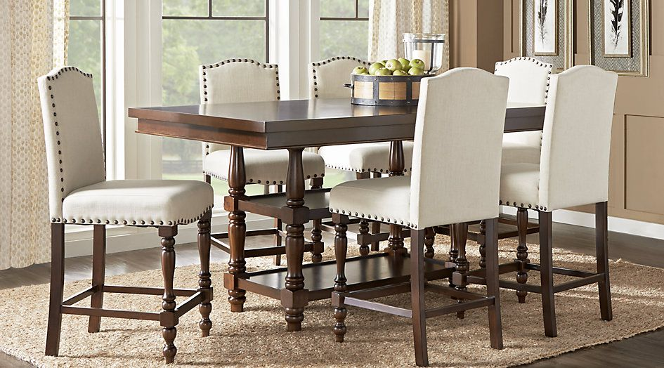 Stanton Cherry 7 Pc Counter Height Dining Room - Dining Room Sets