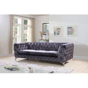 a81dced88b0 Blue Velvet Sofas You'll Love | Wayfair | Apartment Revamp in 2019 ...