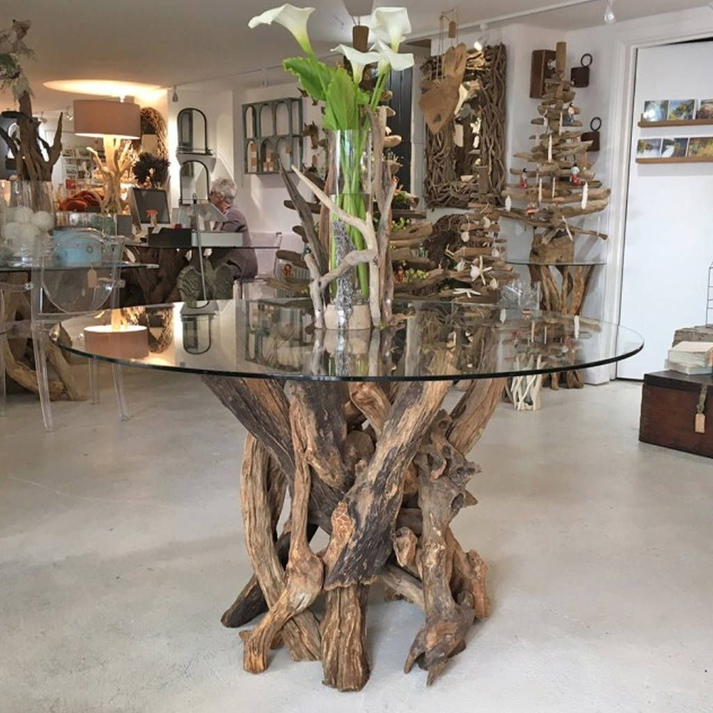 Driftwood Round Dining Table Base In 2020 Driftwood Dining Table