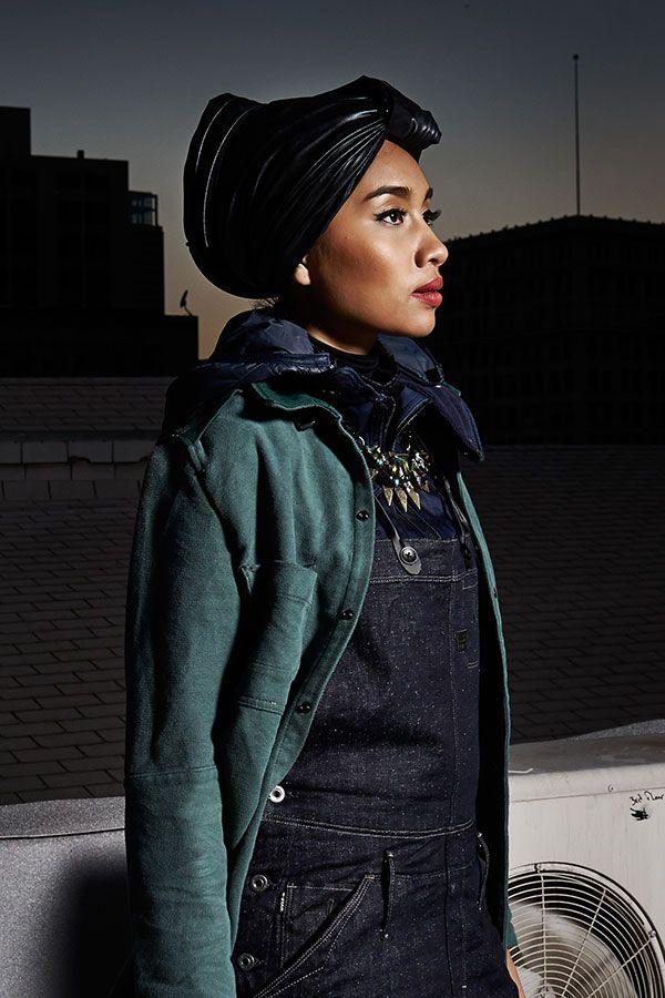 Yuna is wearing the Hunter 5620 Salopette | Funky fashion ...