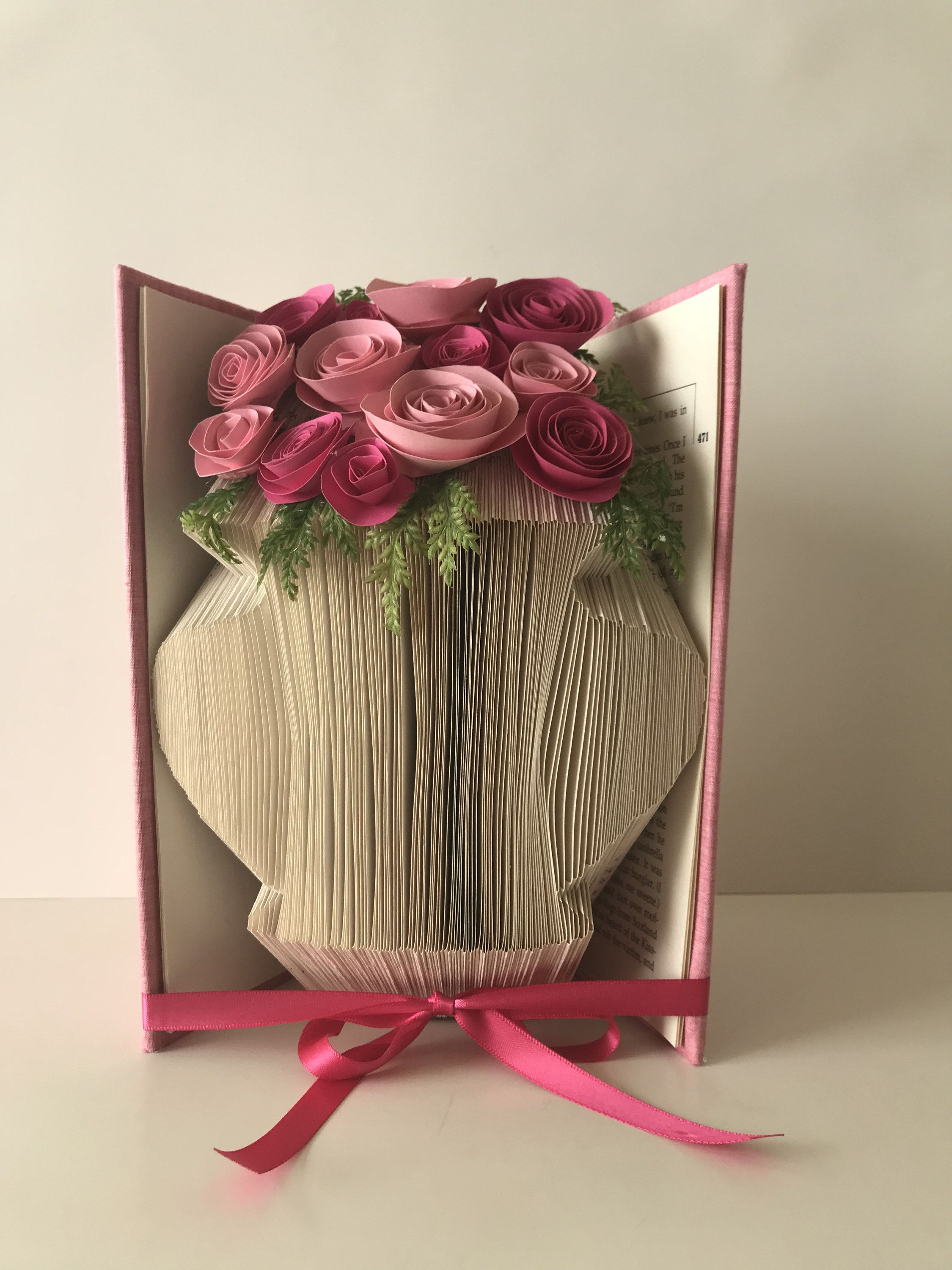 Personalized Vases For Flowers Flower Vase Book Sculpture Paper