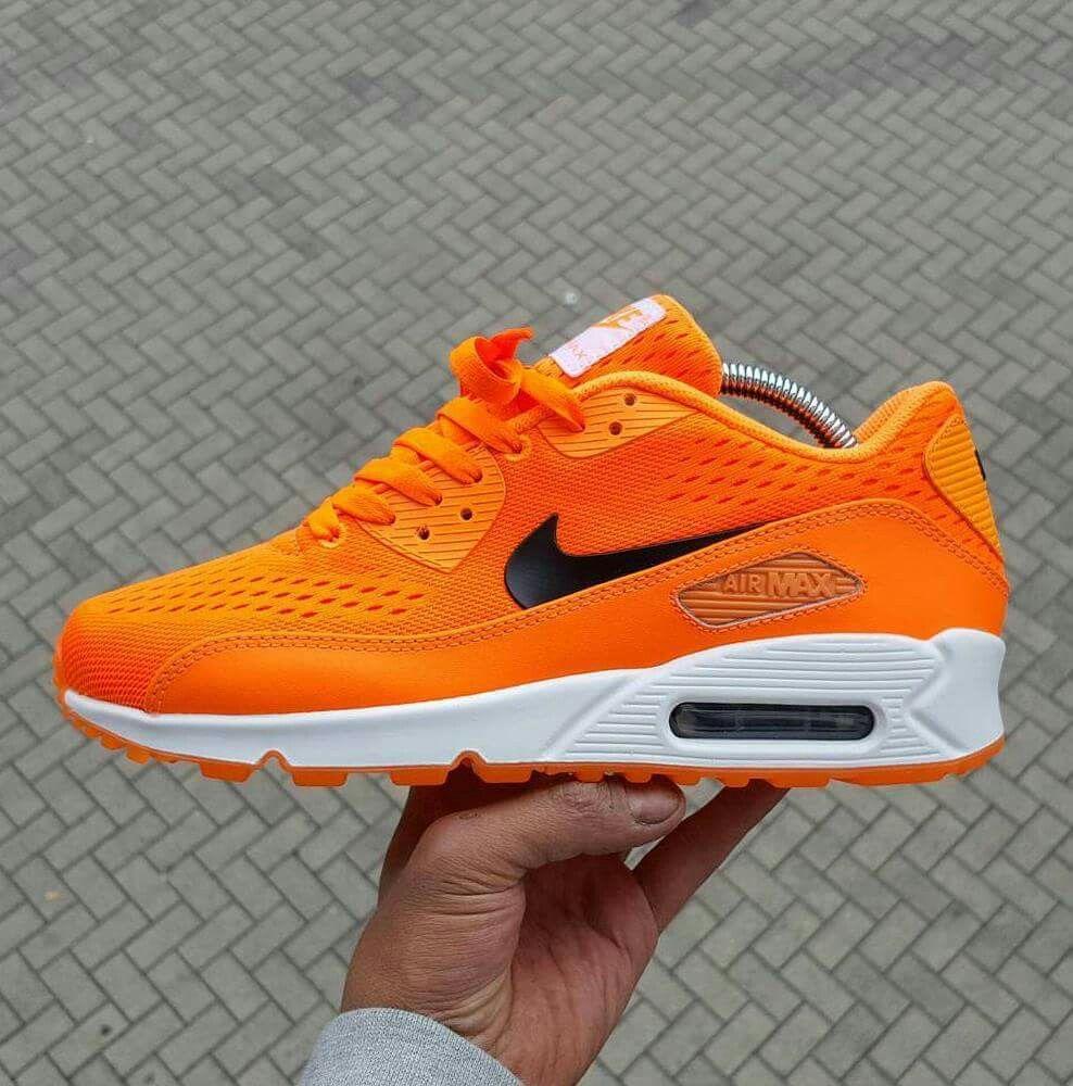 finest selection cfa10 743cc Nike Air Max 90 Baltimore Orange Custom Shoes | ♡NIKE♥ | Nike Air Max, Air  max sneakers, Air max