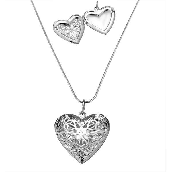 Fsp185 vintage sterling silver 925 heart locket pendant necklace fsp185 vintage sterling silver 925 heart locket pendant necklace photo frame pendant necklace top quality free mozeypictures Gallery