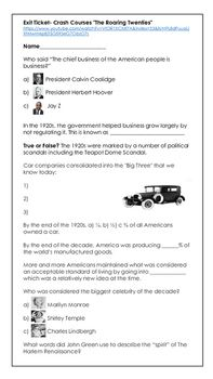 Crash courses history the roaring 20s crash course history this worksheet is intended to be used with episode 32 crash course history publicscrutiny Images