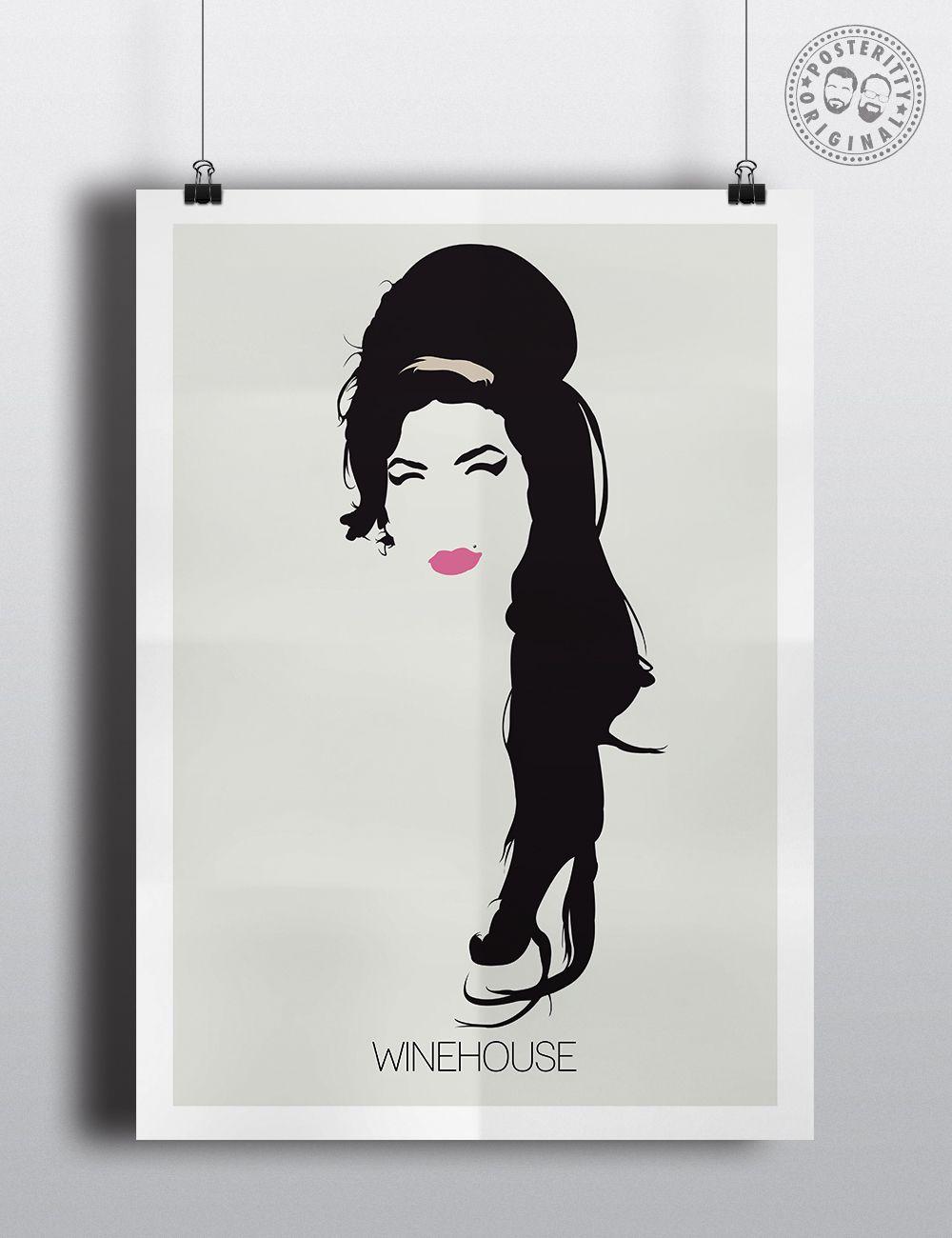 Amy Winehouse Minimalist Poster Digital Art Prints Amy Winehouse