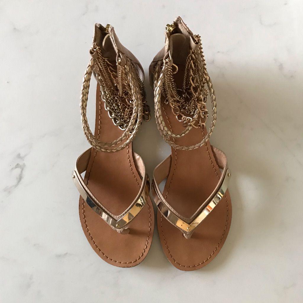 Zigi Soho Shoes | Zigi Soho Gold Chain Gladiator Sandals
