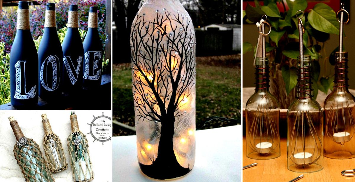 20 Bright Ideas DIY Wine & Beer Bottle Chandeliers | Wine