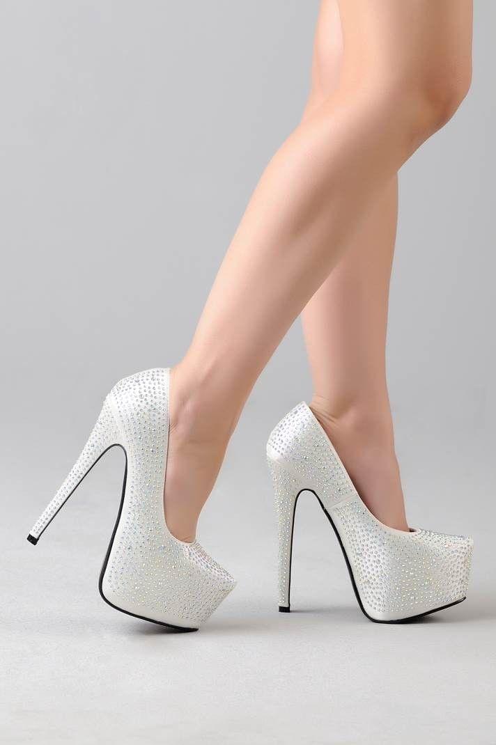Mujer Brillante Plataforma Tacón Alto Zapatos Fiesta