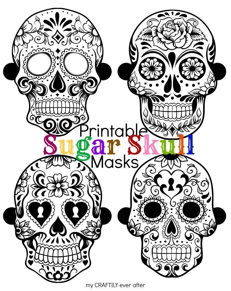 sugar skull mask | pass the crayons | Pinterest | Skull mask, Sugar ...
