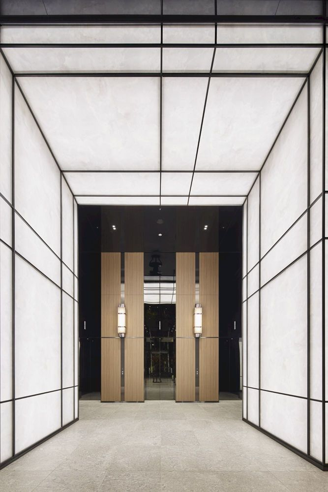 Pin by 郭广豪 on 走道 | Elevator lobby design, Elevator lobby ...